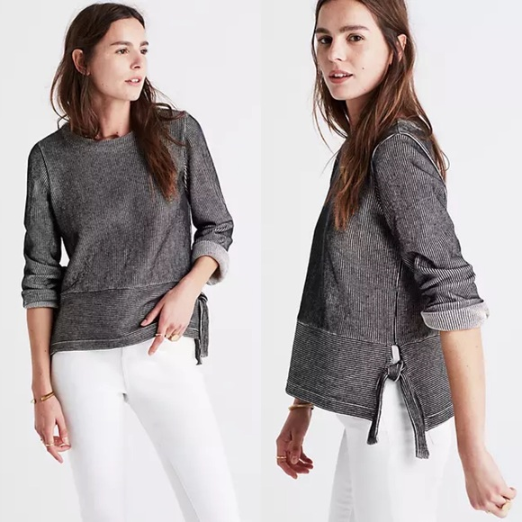 Madewell French Rib Side-Tie Knit Pullover